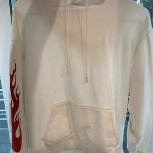 White flame brandy melville hoodie